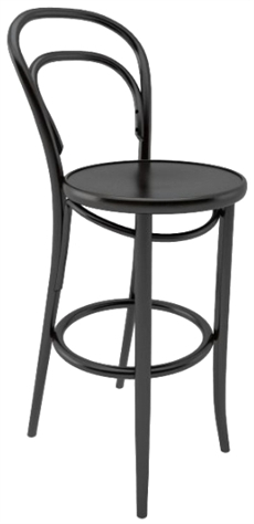 K pa barstol no 14 med tr sits ton for Metallmobel antik