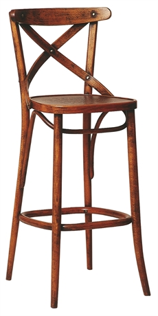 K pa no 150 barstol med tr sits ton for Metallmobel antik