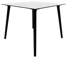 Stefano Table 90x90 cm svart vitLR