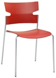 MATERIA_stack chair 4 legged red silvergray frontLR