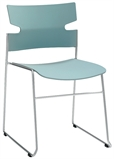 MATERIA_stack chair sled base blue silvergray frontLR