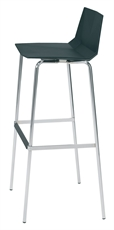 Mayflower barstool black sideLR